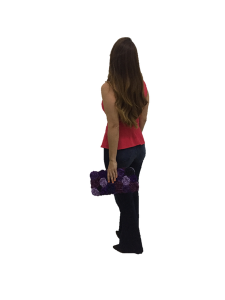 Purple Rectangular Clutch Bag