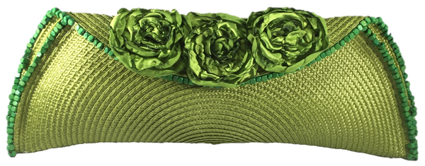 Green Semi Half Moon Clutch