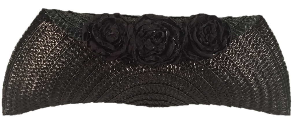 Black Semi Half Moon Clutch