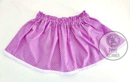 Purple skirt - White hem