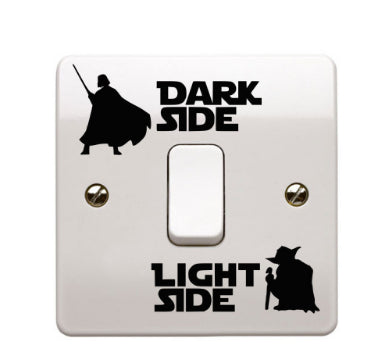 Star Wars Dark Side Light Side Sticker FREE - $0