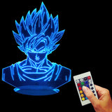 Dragon Ball Z 3D LED Lamp With Remote Control