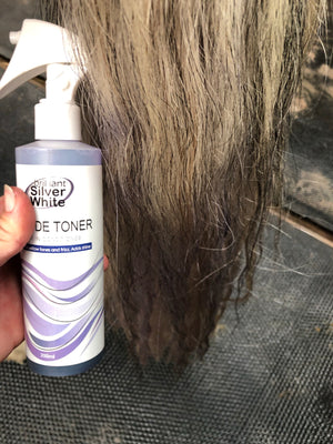 Leave In Spray Toner for silver white finish