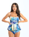 Hope - Palm Leaf Reversible Tankini - $92