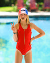 Tween Jenna - Zipper One-Piece Bathing Suit - $48