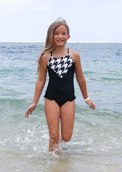 Tween Lainey - Houndstooth One-Piece - $54