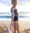 Girls' Ashley - Smocked Tankini - $32