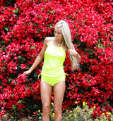 Hallie Tankini - Neon Yellow - $52