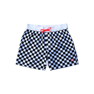 Brock & Boston - Checkered Swim Shorts - $36