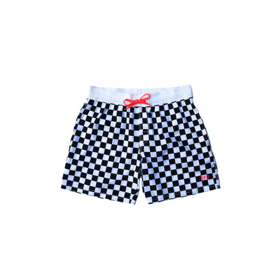 Little Brock & Boston - Boys' Checkered Swim Shorts - $26