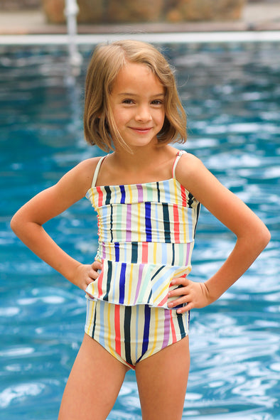 Little Girls Cora - Reversible Tankini - $38
