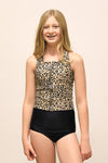Tween Allie - Leopard Zipper Tankini - $52