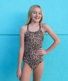 Tween Ashley - Leopard One-Piece - $52