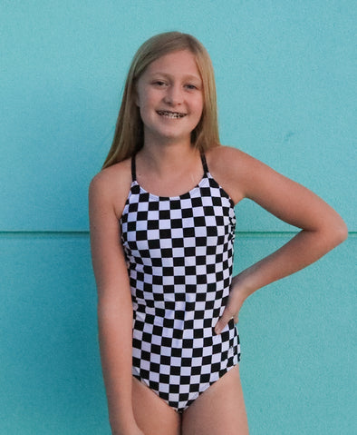 Tween Allie - Checkered One-Piece - 52