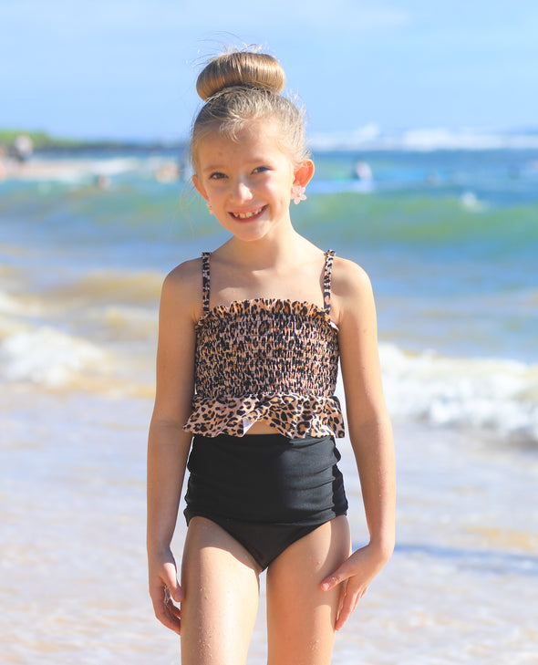 Tween Ashley - Smocked Tankini - $54