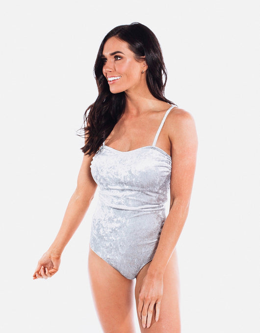 Julia - Crushed Velvet One Piece - $94