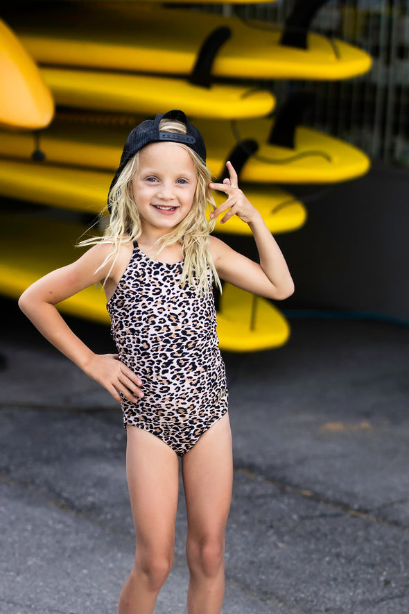 Little Girls Ashley - Leopard One-Piece - $32