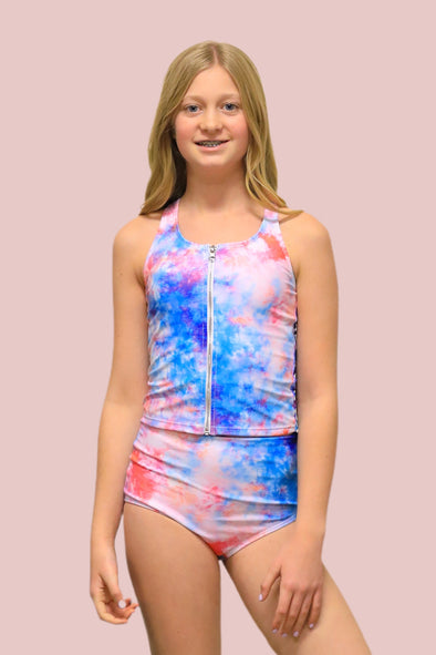 Tween Allie - Colorful Zipper Tankini - $52
