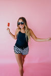 Checkered Swim Shorts - $24