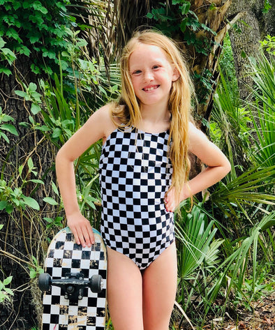Little Girls Allie - Checkered One-Piece - $32