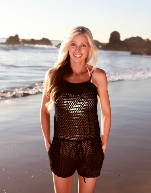 Lace Romper Swim Cover - $39