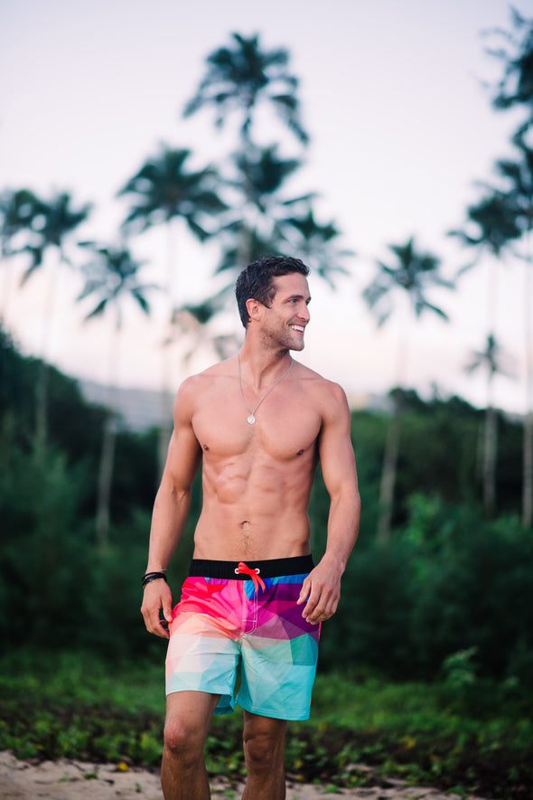 Joe - Multi-Color Men's Swim Shorts - $36