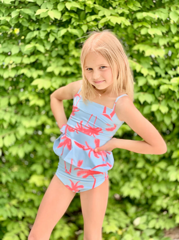 Little Girls Marie - Reversible Tankini - $38