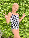 Tween Allie - Checkered One-Piece - $52