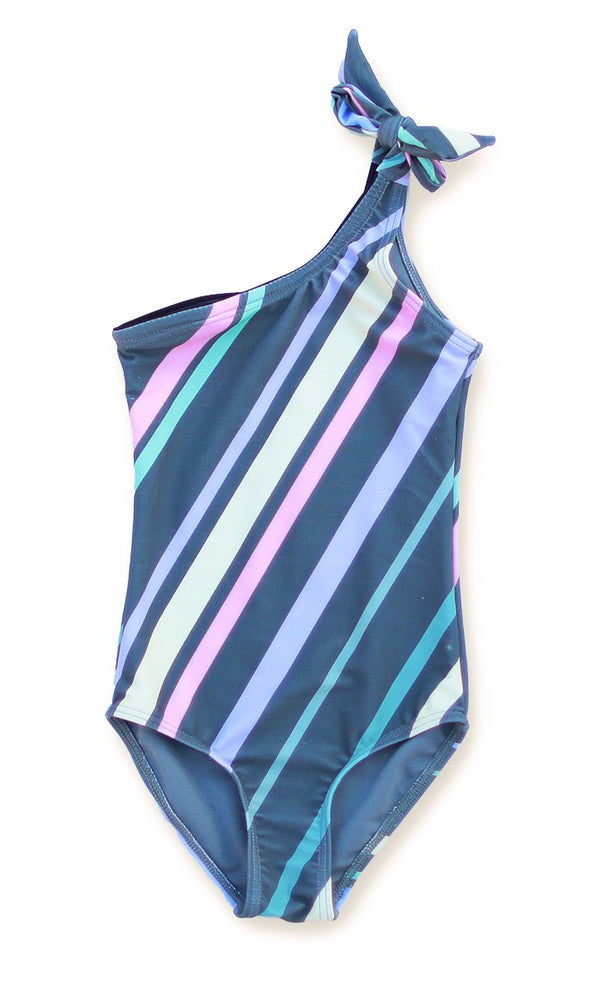 Little Girls Charlotte - Striped One-Piece - $34