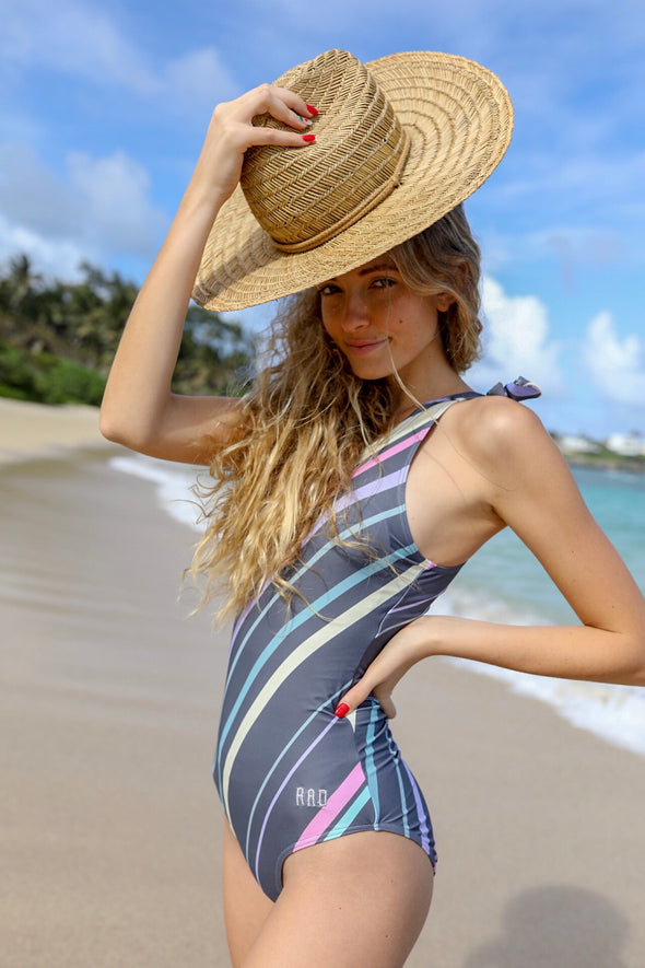 Charlotte - Striped One-Piece - $78