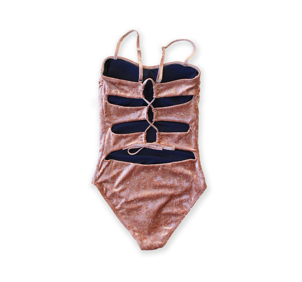 Julia - Crushed Velvet One Piece - $52