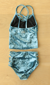 Little Girls' Nikki - Velvet and Lace Tankini - $34