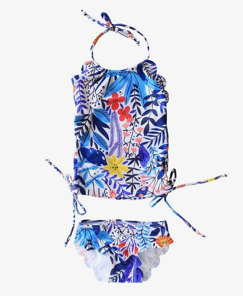Little Girls Hallie Tankini - Seascape Floral - $30