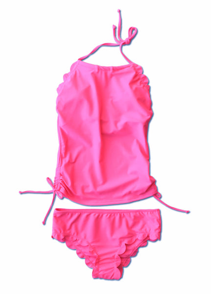Hallie Tankini - Pink or Neon Yellow - $52