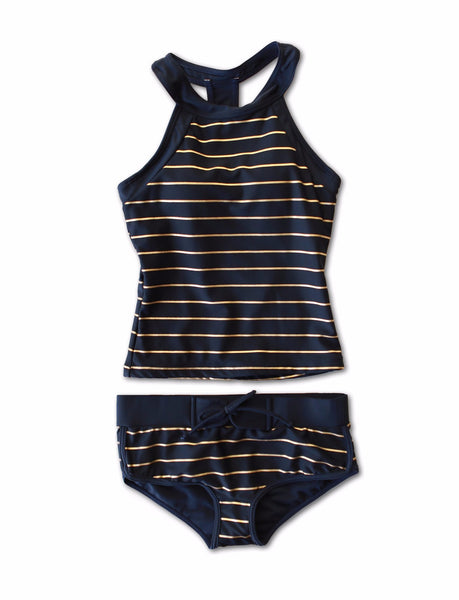 Sydney - Navy and Gold Tankini - $78