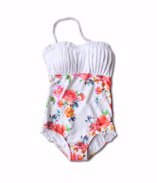 Heather Floral One-Piece - $82