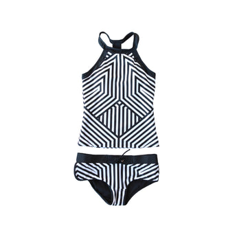 Little Girls Sydney Striped Tankini - $32
