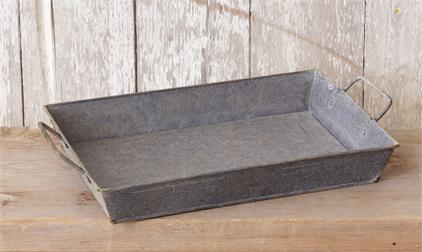Vintage Inspired Galvanized Tray