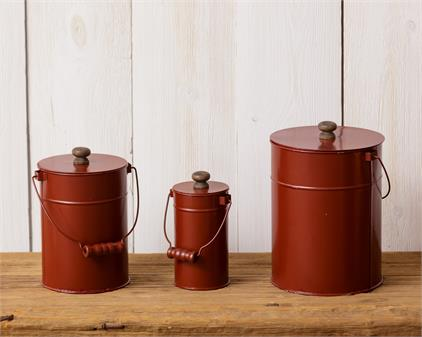 3 PC Nesting Canister Set Tin