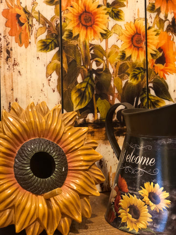 Colorful Sunflower Wooden Sign Wall Decor