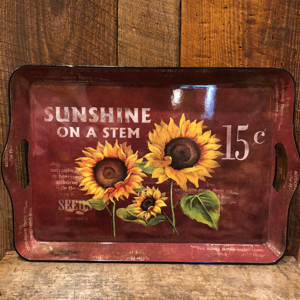 Colorful Sunflower Design Serving Tray
