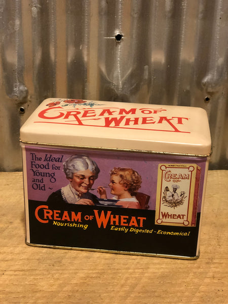Vintage Cream of Wheat Recipe Box Decorative Tin by Nabisco