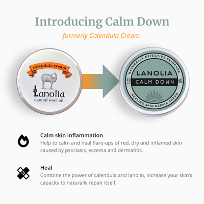 Introducing Lanolia Calm Down, formerly Lanolia Calendula Cream