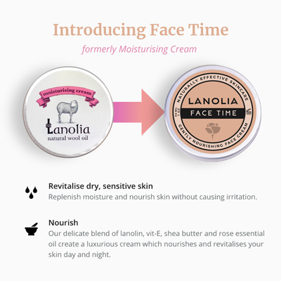 Introducing Lanolia Face Time, formerly Lanolia Moisturising Cream