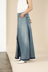 Bleach Denim Skirt