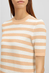 Cotton Pique Stripe Tee