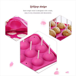 3D Ball Shape Lollipop 12- Silicone Mold - Silicone Mold - Free Shipping