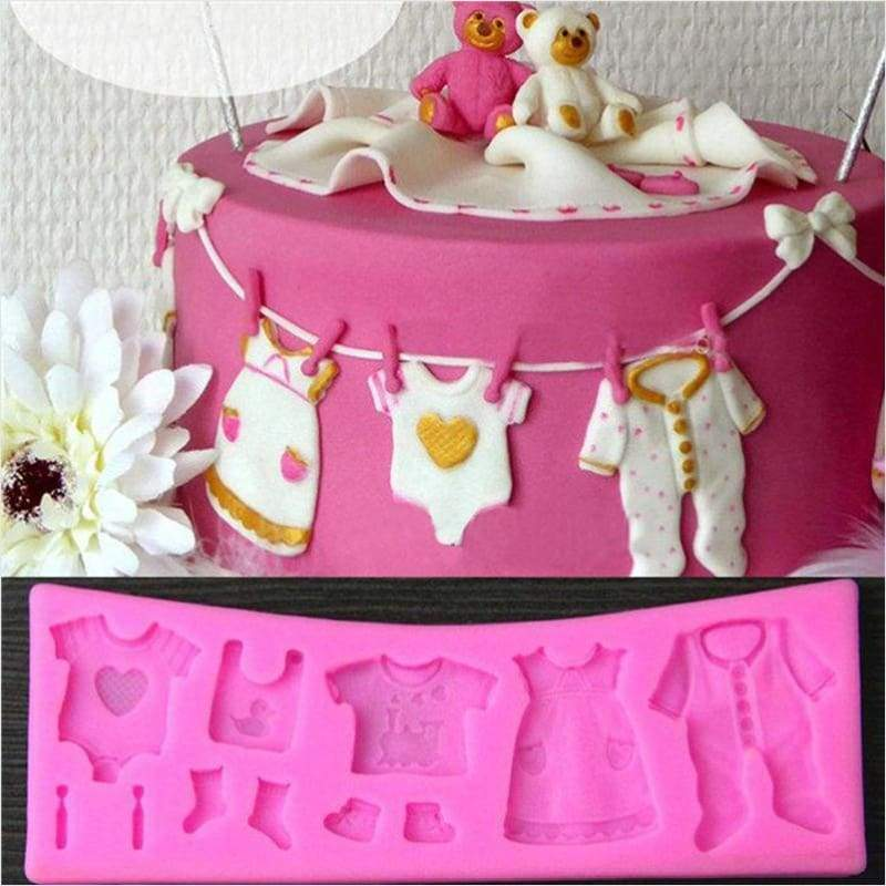3D Fondant Baby Cloth Shape Sugar Craft Silicone Mold - Silicone Mold - Free Shipping