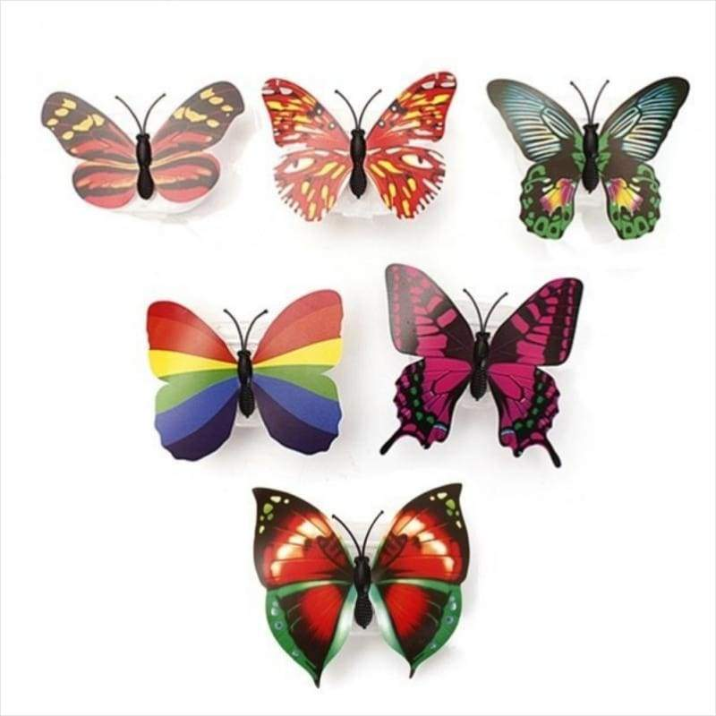 Beautiful 3D Butterfly LED Night Light Multy Pack - Butterfly with LED lights - Free Shipping