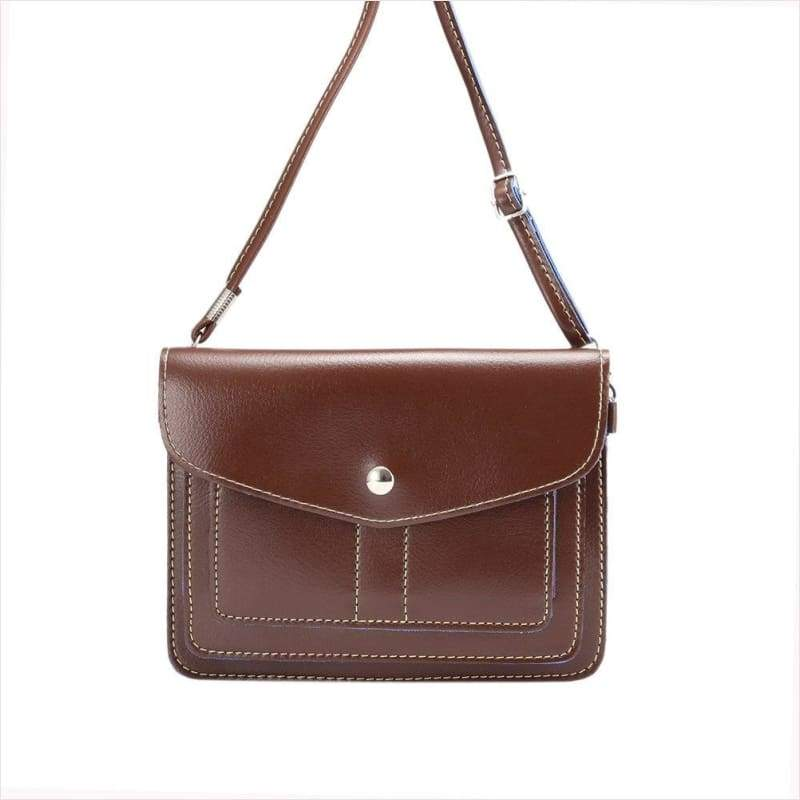 Casual Leather Cross-Body Pouch - Bag - Free Shipping